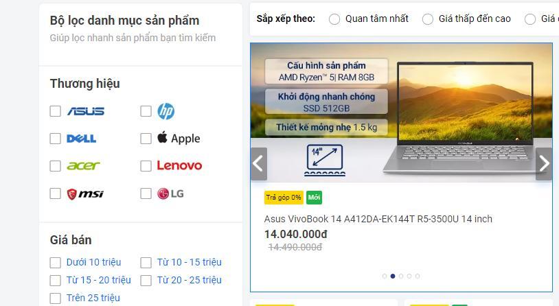 Mua laptop ở Nguyễn Kim