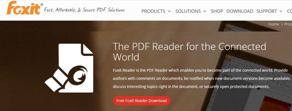 Phần mềm xem file PDF Foxit Reader