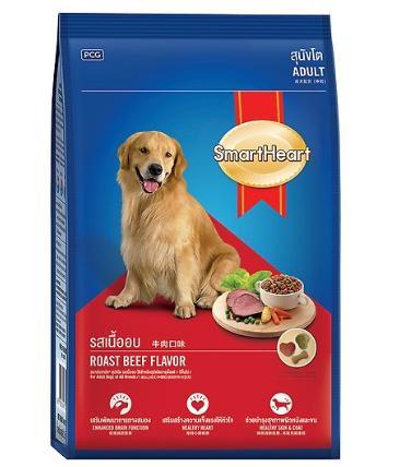 Thức ăn cho chó vị bò nướng SmartHeart (3kg)