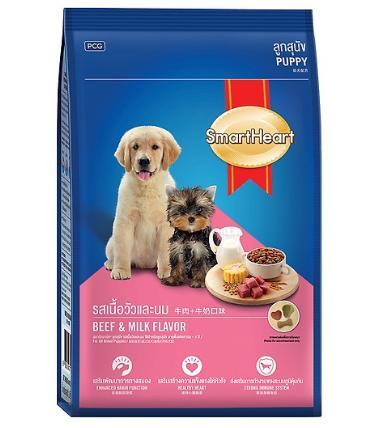 Thức ăn cho chó con vị thịt bò và sữa SmartHeart (3kg)