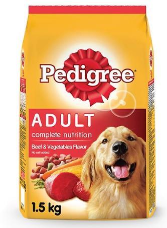 Thức ăn cho chó mẹ hãng Pedigree vị bò