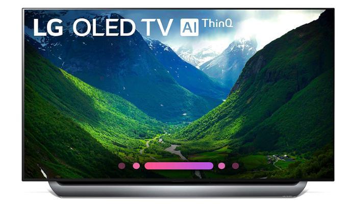 Tivi ngoài trời OLED tốt nhất để sử dụng vào ban đêm: LG C8 OLED