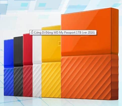 Ổ Cứng Di Động WD My Passport có nhiều màu để lựa chọn