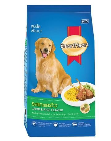 Thức ăn cho chó mẹ hãng SmartHeart túi 10kg vị thịt cừu và gạo