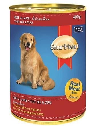 Thức ăn cho chó mẹ hãng SmartHeart túi 400g vị thịt bò và thịt cừu