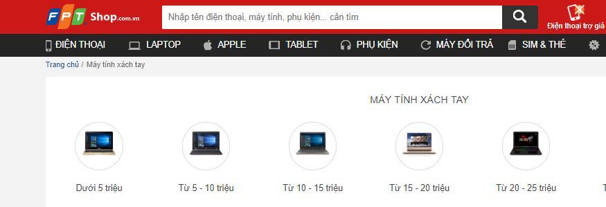 Bạn có thể mua laptop Online trên FPT Shop