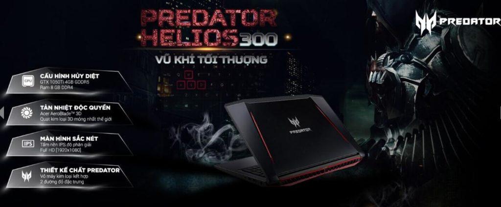 Laptop Helios 300 (G3-572-79S6) chơi Game