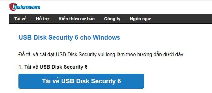 Phần mềm chặn Virus từ USB vào laptop USB Disk Security