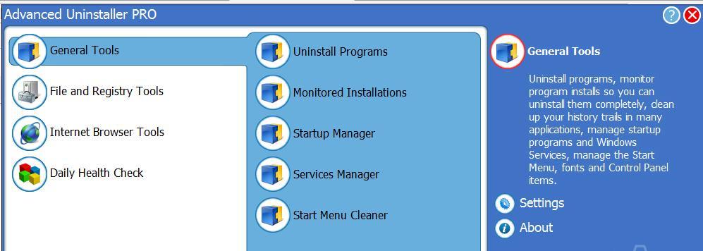 Phần mềm gỡ bỏ phần mềm trên laptop Advanced Uninstaller