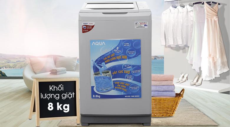 Máy giặt Aqua 8.0 Kg AQW-S80AT