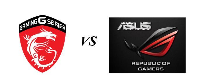 So sánh laptop MSI và Asus
